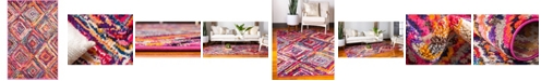 "Bridgeport Home Newwolf New1 Multi 3' 3"" x 5' 3"" Area Rug"
