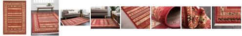 Bridgeport Home Ojas Oja4 Rust Red 4' x 6' Area Rug