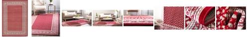 Bridgeport Home Axbridge Axb1 Red 7' x 10' Area Rug