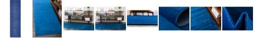 """Bridgeport Home Axbridge Axb3 Navy Blue 2' 9"""" x 9' 10"""" Runner Area Rug"""