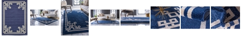 Bridgeport Home Anzu Anz3 Navy Blue 9' x 12' Area Rug