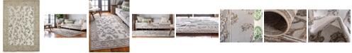 Bridgeport Home Pashio Pas4 Beige/Gray 7' x 10' Area Rug