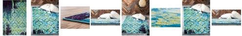 Bridgeport Home Linport Lin2 Blue 4' x 6' Area Rug
