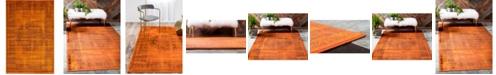 Bridgeport Home Linport Lin5 Terracotta 4' x 6' Area Rug