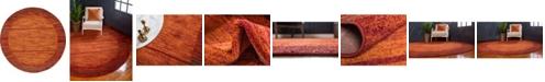 Bridgeport Home Jasia Jas11 Terracotta 8' x 8' Round Area Rug