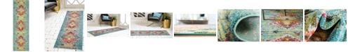 """Bridgeport Home Brio Bri9 Turquoise 2' x 6' 7"""" Runner Area Rug"""