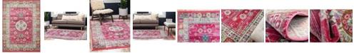 Bridgeport Home Kenna Ken2 Pink 10' x 13' Area Rug