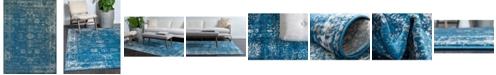Bridgeport Home Basha Bas1 Blue 8' x 11' Area Rug