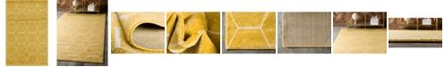 Bridgeport Home Plexity Plx1 Yellow 4' x 6' Area Rug