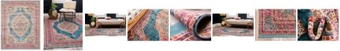 """Bridgeport Home Kenna Ken1 Turquoise 8' 4"""" x 10' Area Rug"""