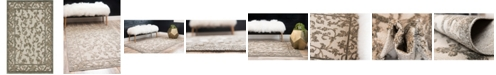 Bridgeport Home Pashio Pas4 Beige/Light Gray 4' x 6' Area Rug