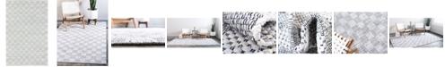 Bridgeport Home Jari Checkered Jar2 Ivory 6' x 9' Area Rug