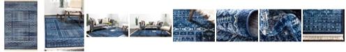 Bridgeport Home Borough Bor4 Blue 6' x 9' Area Rug