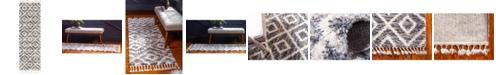"Bridgeport Home Lochcort Shag Loc2 Gray 2' 7"" x 8' 2"" Runner Area Rug"