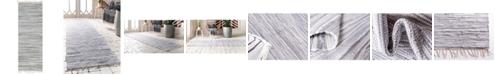 "Bridgeport Home Jari Striped Jar1 Gray 2' 2"" x 6' 7"" Runner Area Rug"