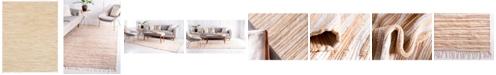 Bridgeport Home Jari Striped Jar1 Tan 8' x 10' Area Rug