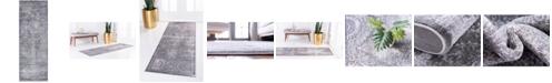 "Bridgeport Home Anika Ani3 Gray 2' 2"" x 6' Runner Area Rug"
