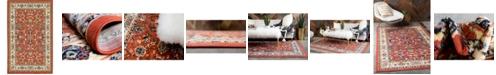 Bridgeport Home Arnav Arn1 Terracotta 5' x 8' Area Rug