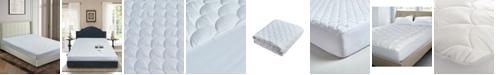 Blue Ridge 100% Cotton Damask Dot Dual Action King Mattress Pad
