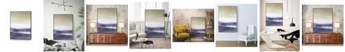 "Giant Art 40"" x 30"" Amethyst Sea II Art Block Framed Canvas"