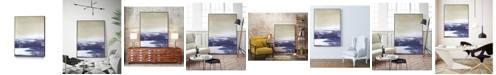 "Giant Art 40"" x 30"" Amethyst Sea I Art Block Framed Canvas"