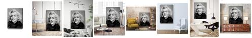 """Giant Art 24"""" x 18"""" Smile Art Block Framed Canvas"""