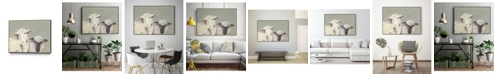 "Giant Art 32"" x 24"" Sweet Lambs I Art Block Framed Canvas"
