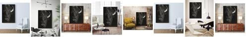 "Giant Art 36"" x 24"" Glimpse I Art Block Framed Canvas"