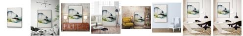 "Giant Art 14"" x 11"" Abstract Terrain III Art Block Framed Canvas"