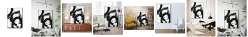 "Giant Art 40"" x 30"" Onyx Gesture II Art Block Framed Canvas"