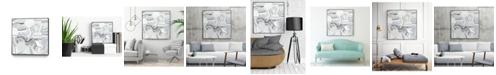"""Giant Art 20"""" x 20"""" Tranquil Tide I Art Block Framed Canvas"""