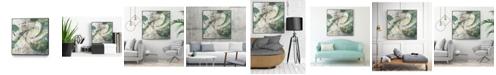 "Giant Art 30"" x 30"" Emerald Aerial Art Block Framed Canvas"