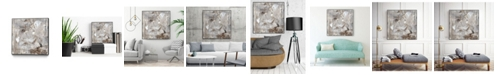 "Giant Art 20"" x 20"" Neutral Jostle II Art Block Framed Canvas"