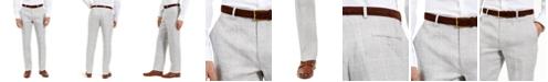 Lauren Ralph Lauren Men's Classic Fit Ultra-Flex Light Grey and Blue Plaid Suit Separate Pants