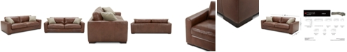 """Furniture Chelby 89"""" Leather Sofa"""
