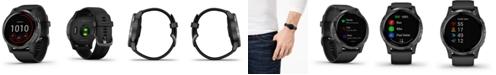 Garmin Unisex vivoactive 4 Black Silicone Strap Touchscreen Smart Watch 45mm