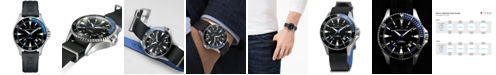 Hamilton Men's Swiss Automatic Khaki Navy Scuba Black Rubber Strap Watch 40mm