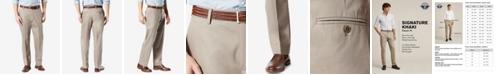 Dockers Men's Signature Lux Cotton Classic Fit Creased Stretch Khaki Pants