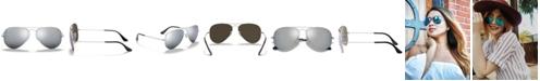 Ray-Ban Polarized Sunglasses , RB3025 AVIATOR MIRROR