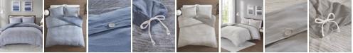 JLA Home Urban Habitat Space Dyed King/Cal King 3 Piece Melange Cotton Jersey Knit Duvet Cover Set