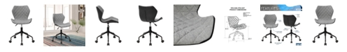 RTA Products Techni Mobili Deluxe Modern Office Armless Task Chair
