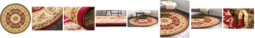 Bridgeport Home Belvoir Blv4 Red 6' x 6' Round Area Rug