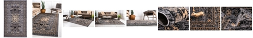 Bridgeport Home Charvi Chr1 Gray 5' x 8' Area Rug