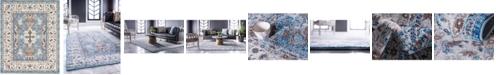 Bridgeport Home Wisdom Wis2 Light Blue 8' x 10' Area Rug