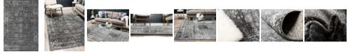 Bridgeport Home Basha Bas1 Dark Gray 4' x 6' Area Rug