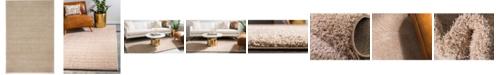 Bridgeport Home Salon Solid Shag Sss1 Taupe 4' x 6' Area Rug