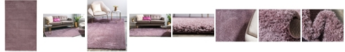 Bridgeport Home Salon Solid Shag Sss1 Mauve 5' x 8' Area Rug