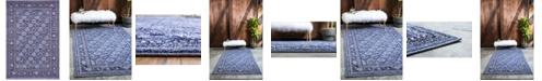 Bridgeport Home Aldrose Ald2 Blue 4' x 6' Area Rug