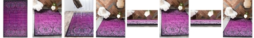 Bridgeport Home Linport Lin6 Lilac 5' x 8' Area Rug