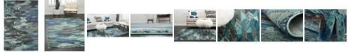 Bridgeport Home CLOSEOUT! Arcata Arc4 Blue 4' x 6' Area Rug
